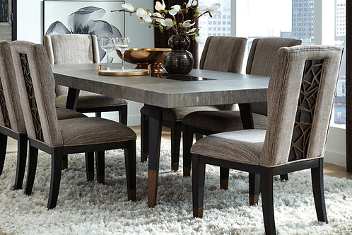 Ryker Nocturn Black & Gray Rectangular Dining Table