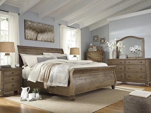 Trishley Sleigh Bedroom Set