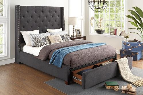 Queen Upholstered Platform Storage Bed