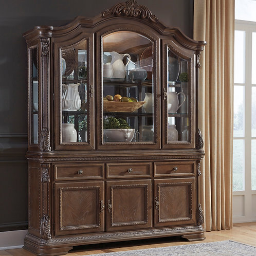 Charmond Brown Dining Server & Cabinet