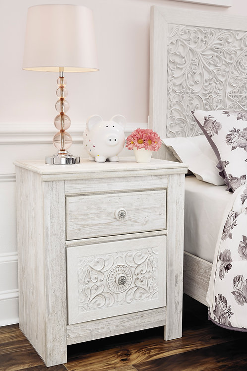 Paxberry White Washed Nightstand