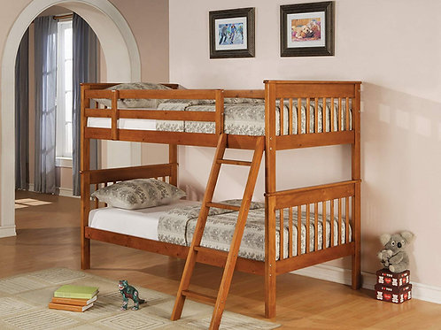 Distressed Pine Twin/Twin Bunk Bed