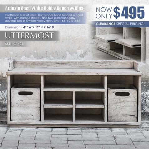 Ardusin Aged White Hobby Bench by Uttermost_25421.jpg
