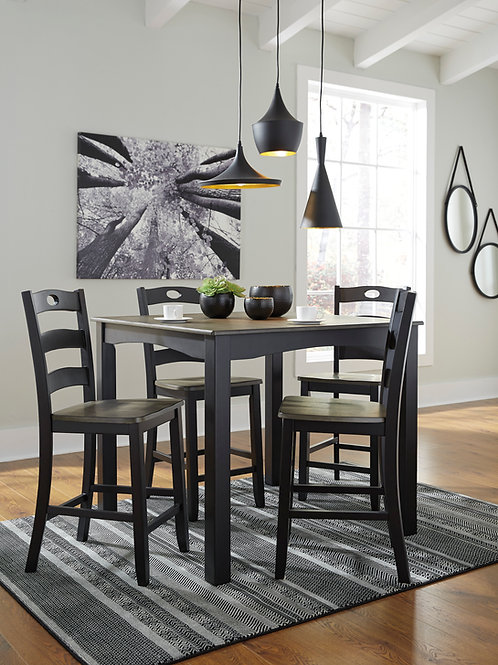 Froshburg Counter Height Table & 4 Barstools