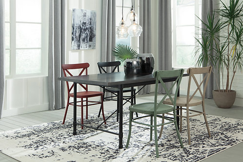 Minnona Dining Room Table & 4 Chairs