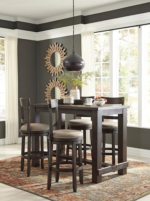 Drewing Bar Table & 4 Swivel Barstools