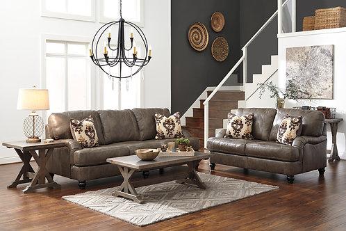 Kannerdy Leather Sofa & Loveseat