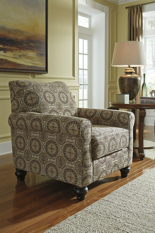 Breville Burlap Accent Chair