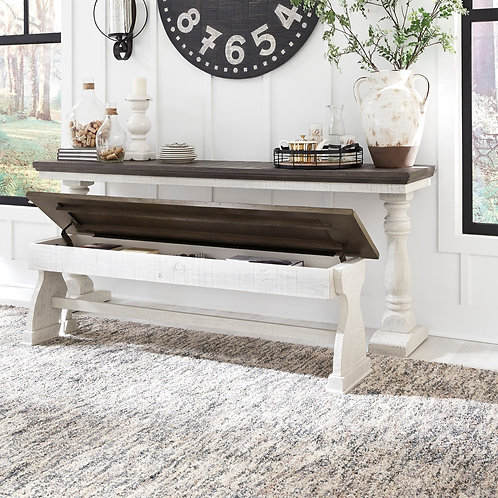 Braelow Two-Tone Table and Storage Bench
