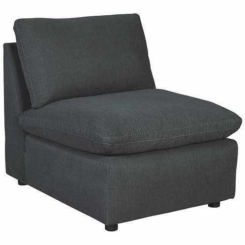 Savesto Charcoal Armless Chair