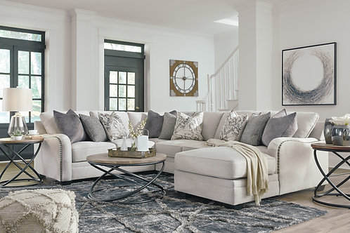 Dellara Chalk 4-PC Sectional