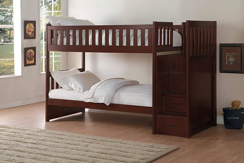Rowe Twin/Twin Staircase Bunk Bed