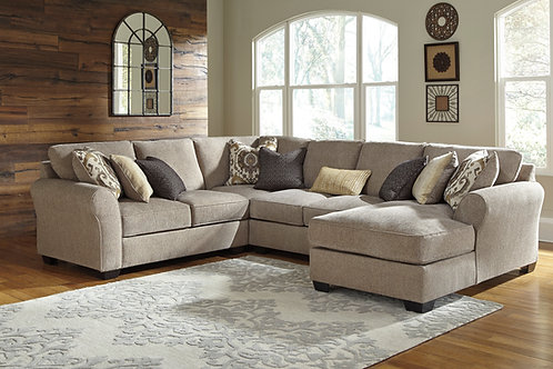 Pantomine Driftwood 4 PC Sectional