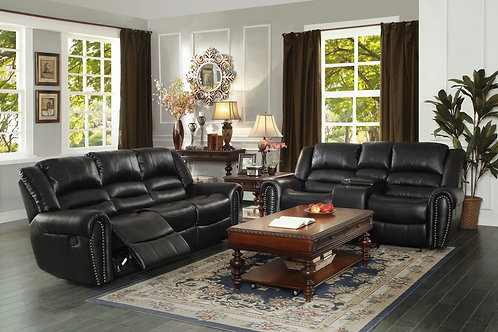 Center Hill Midnight Reclining Sofa & Loveseat