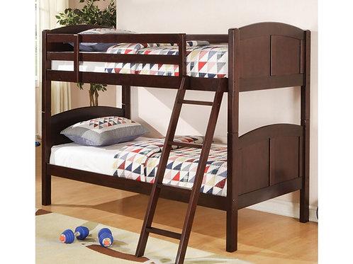 Parker Dark Cappuccino Twin/Twin Bunk Bed