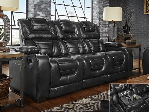 Manhattan Midnight Leather Reclining Sofa OR Loveseat