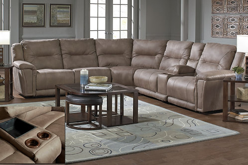 Montgomery Heavy Suede Cement 6PC Sectional