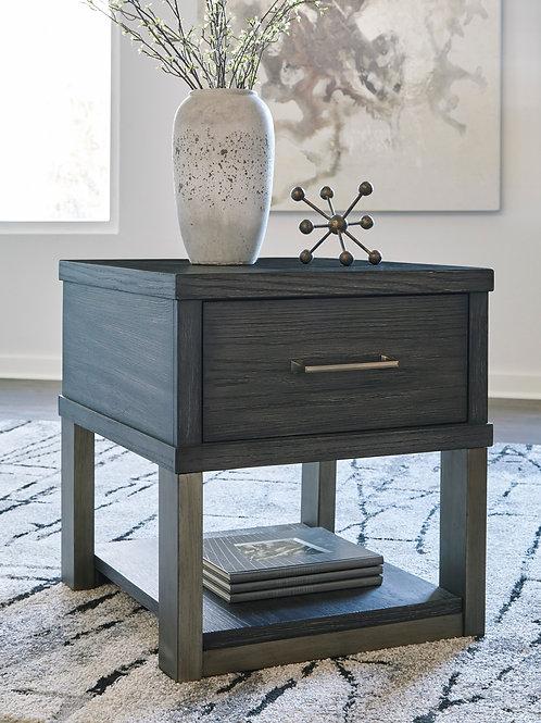 Forleeza Dark Gray Rectangular End Table