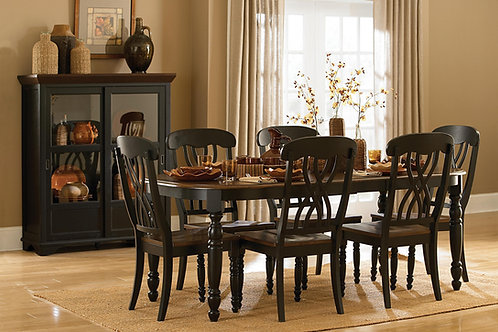 Ohana Dining Room Black Set