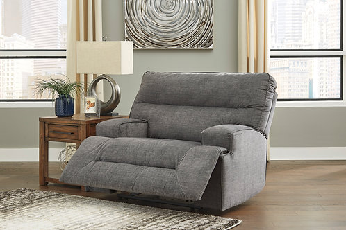 Coombs Charcoal Lay-Flat Recliner