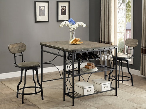 Kenneth Craft Table & 2 Stools