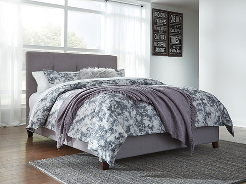 Dolante Graphite Upholstered Queen Bed