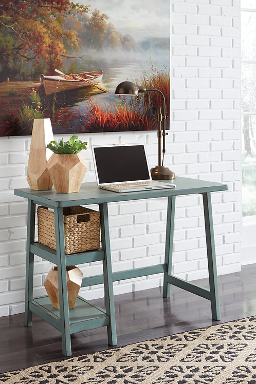 Mirimyn Teal Small Home Office Desk