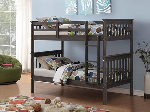 Brushed Gray Twin/Twin Bunk Bed