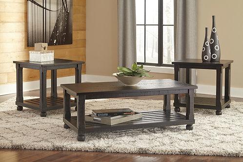 Mallacar Black 3-in-1 Table Set