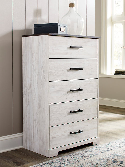 Shawburn Two-Tone Five Drawer Chest