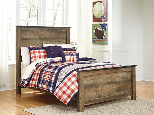 Trinell Youth Rustic Brown Twin or Full Bed