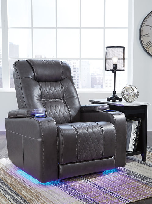 Composer Gray Theater Style Power Motion Recliner