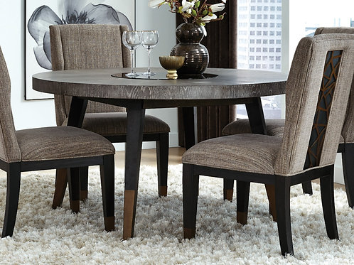 Ryker Nocturn Black & Gray Round Dining Table