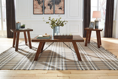 Frezler Warm Brown 3-in-1 Table Set