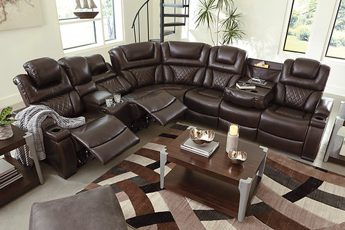 Warnerton Chocolate Reclining Sectional