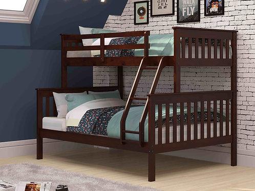 Dark Cappuccino Twin/Full Mission Bunk Bed
