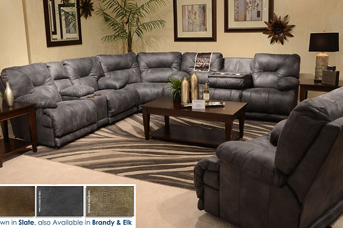 Voyager Slate Reclining Sectional