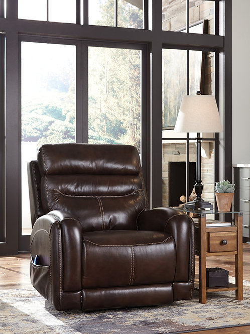 Ailor Brown Lay-Flat Power Recliner