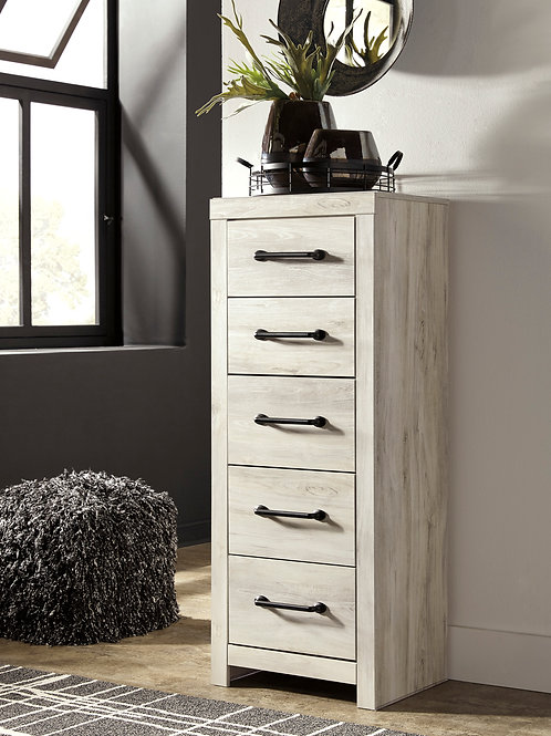 Cambeck Whitewash Rustic Narrow Chest