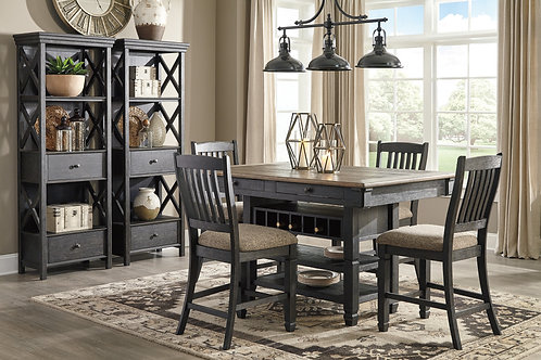 Tyler Creek Counter Height Table & 4 Barstools