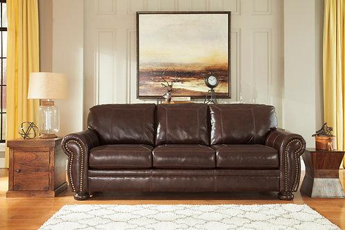 Banner Coffee Leather Sofa