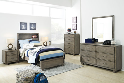 Arnett Smoky Gray Twin Size Bedroom Set