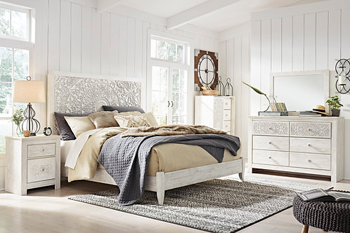 Paxberry White Washed Queen Bedroom Set