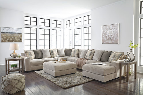 Ardsley Pewter 5-Piece Sectional