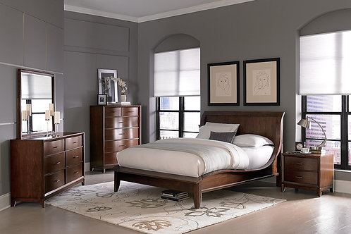 Kasler Walnut Platform Bedroom Set