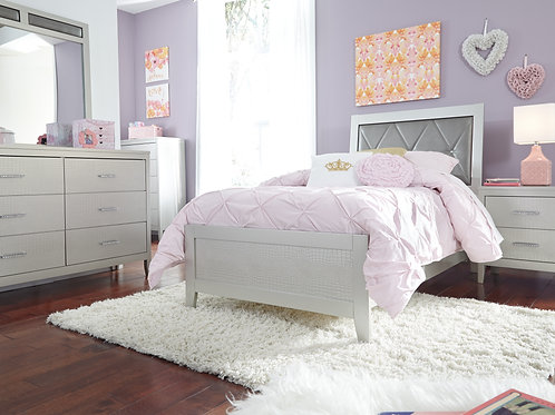 Olivet Silver Twin Bed