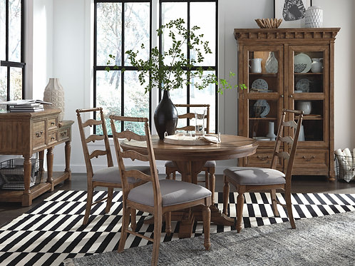Graham Hills Round Dining Table & 4 Chairs