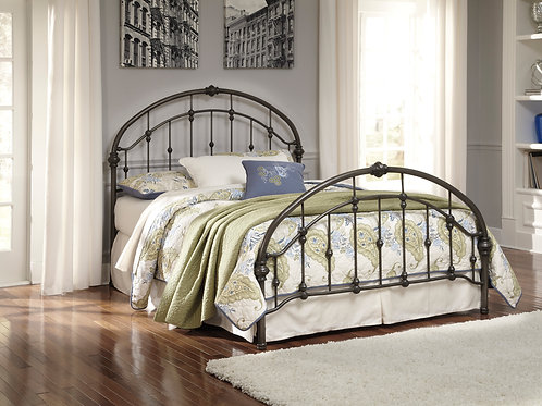 Nashburg Bronze Queen Metal Bed