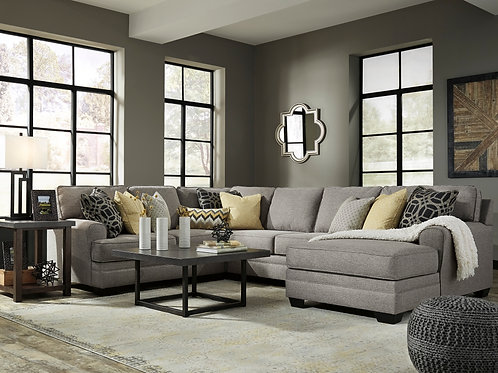 Cresson Pewter 4-PC Sectional