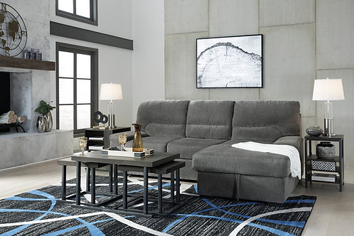 Yantis Gray Pop-Up Bed Sofa Chaise
